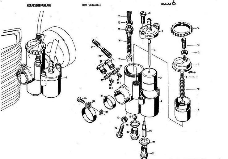 b6 - vergaser - kraftstoffanlage
