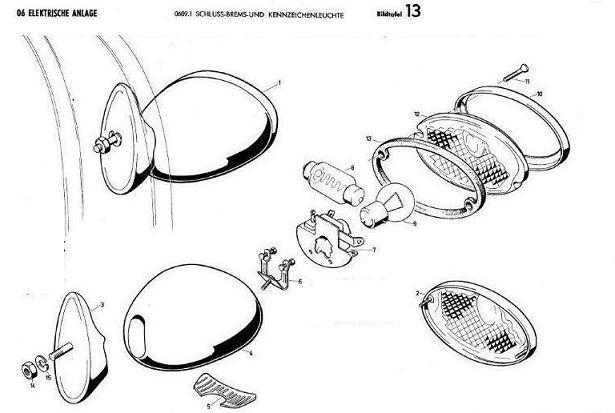 B13 - Schluss-Brems-und Kennzeichenleuchte