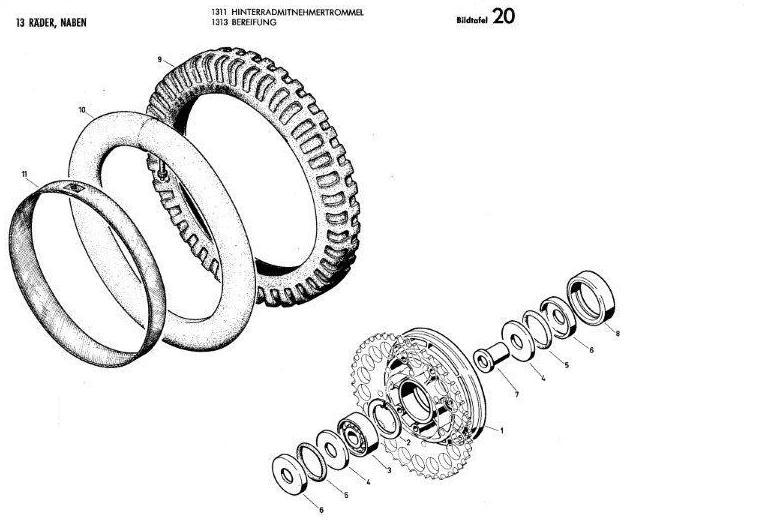B20 - Hinteradmitnehmertrommel