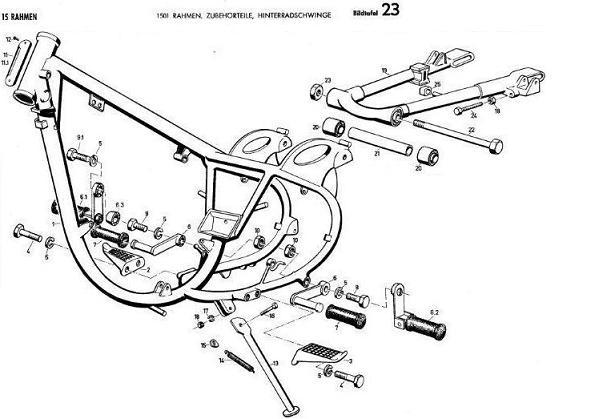 B23 - Rahmen, Zubehörteile, Hinterradschwinge
