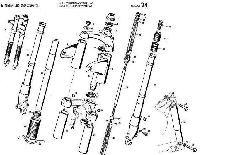 B24 - Vorder- und Hinterradfederung